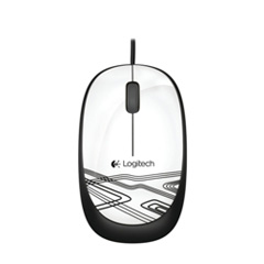 Logitech M105 Corded Mouse White 910-002932