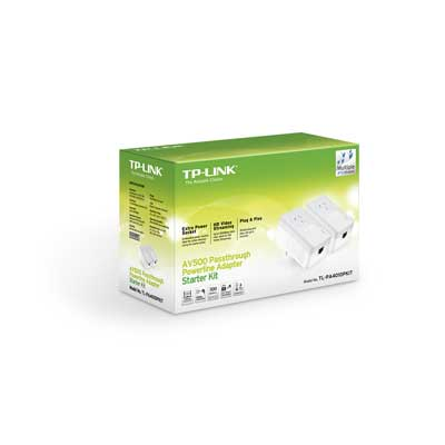 tp-link TL-PA4010Kit AV500 Powerline Adapter Starter Kit