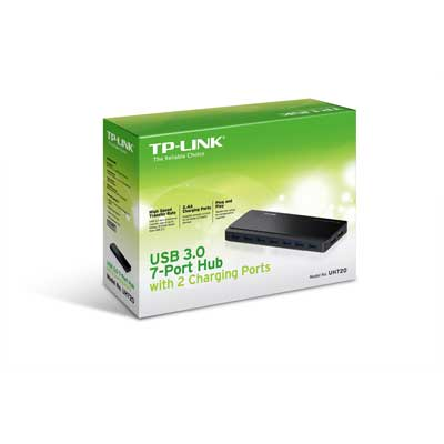 tp-link UH720 USB 3.0 7 Port Hub with 2 Charging Ports Image 3